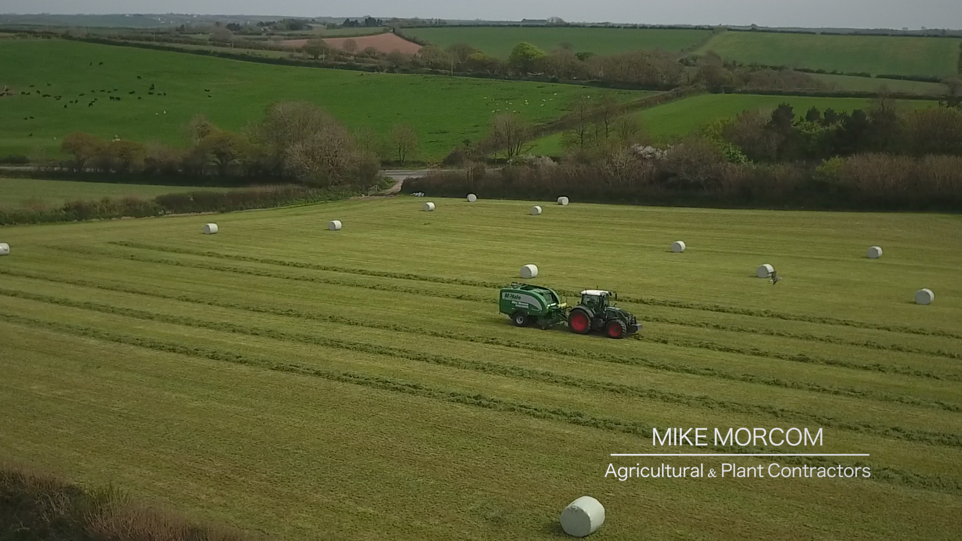 Mike Morcom Agricultural & Plant Hire in Cornwall Contractors banner vid still