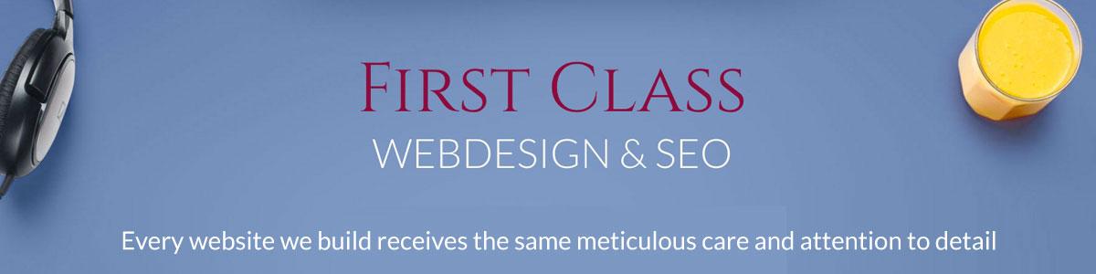 First Class Web Design banner