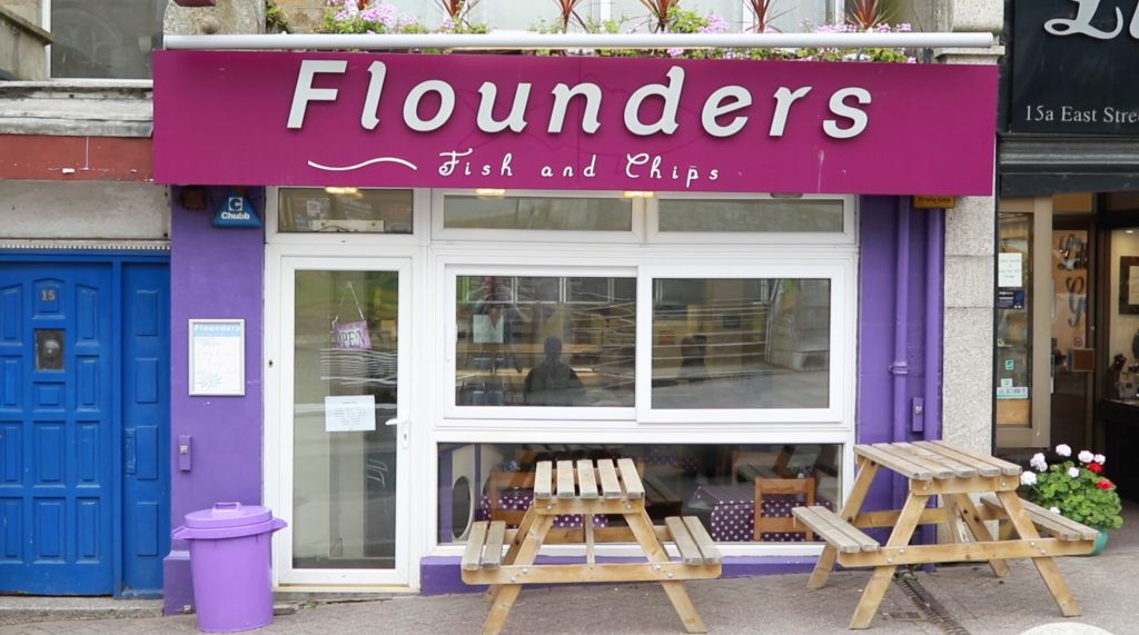 Flounders Fish And Chips Newquay Cornwall Channel Video